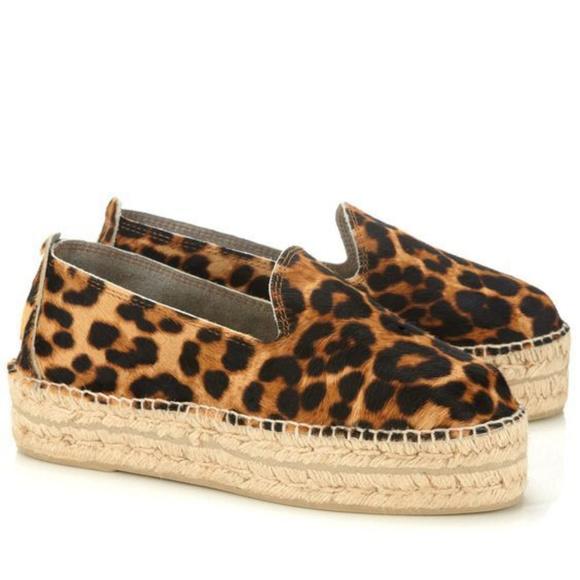 Manebi Shoes - NWT Manebi Accra Leopard Calf Hair Espadrilles